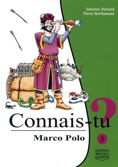 Connais-tu Marco Polo... le plus intrépide voyageur du Moyen Age ? Ce fils de marchand de Venise parti au bout du monde à l'âge de 17 ans ? Cet habile conteur devenu enquêteur privé et embassadeur de l'empereur de Chine? Celui dont les aventures extraordinaires ont inspiré de grands explorateurs comme Christophe Colomb?