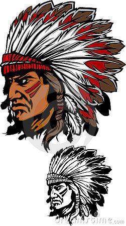 Insignia de la mascota del jefe indio