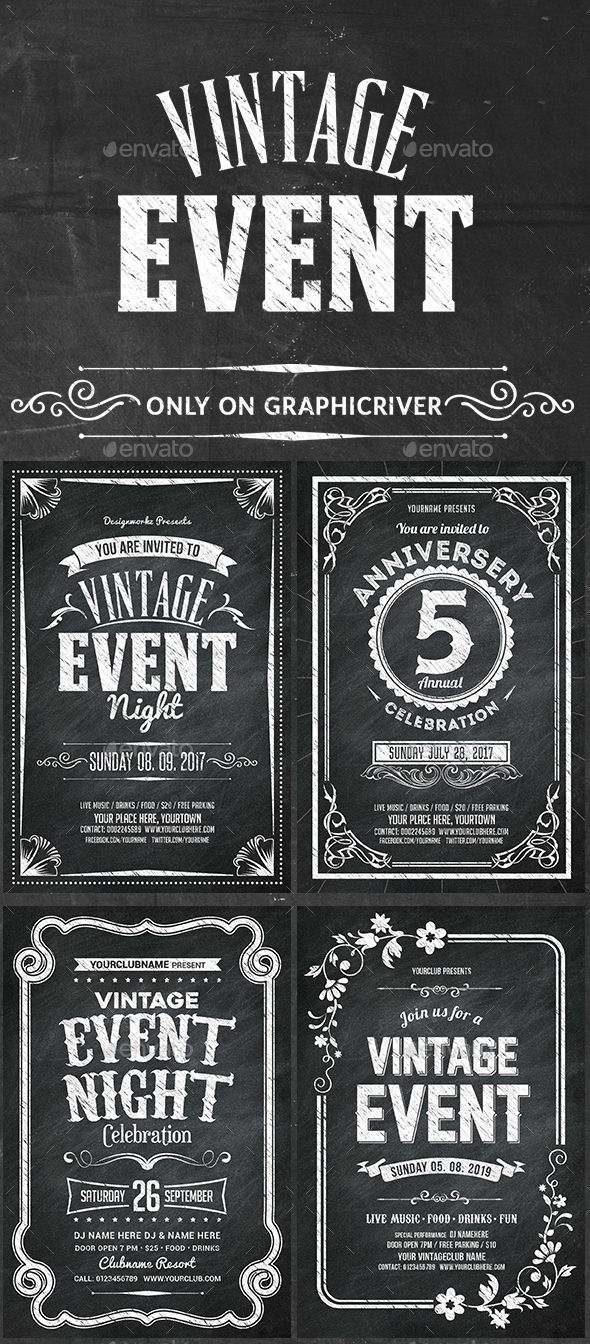 #Vintage #Events #Flyers - Events Flyers