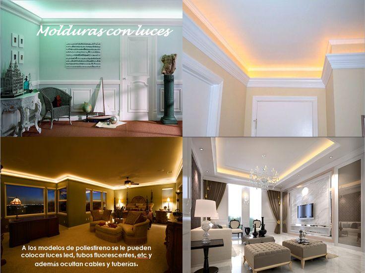 Las 25 mejores ideas sobre molduras decorativas en - Columnas decorativas interiores ...