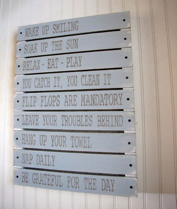 "lake house rules.  from ""cellardesigns"" on etsy.: At The Beaches, Lakes Rules, Life Rules, Beach Houses, Coastal Living, Beaches Rules, Beaches Houses, The Lakes Houses, Houses Rules"
