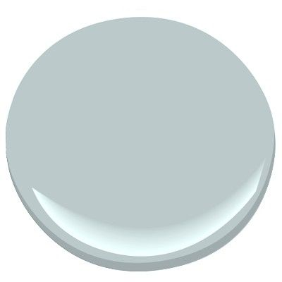 Smoke by Benjamin Moore. It might be a little too bright blue still, but I like the grayish look. I'll have to judge in person.