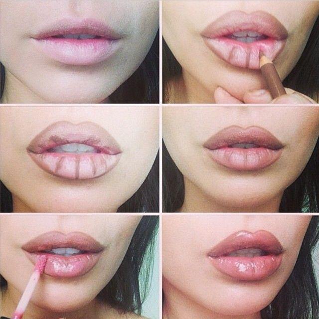 Overlining lips