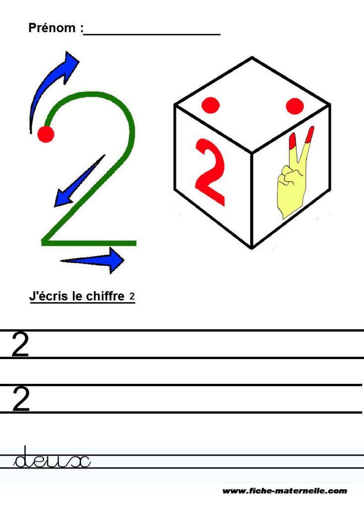 J'écris les nombres en chiffre et en lettres en maternelle