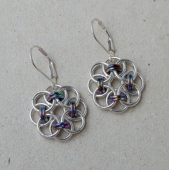 How to Make Chainmail Earrings   chainmaille earrings by lace metal handmade chainmaille earrings ...