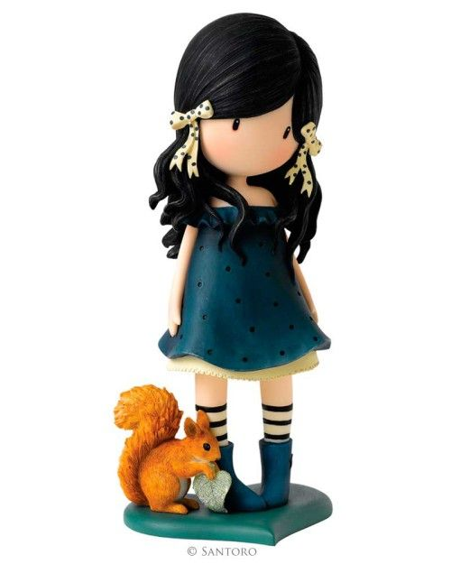 "Figura Coleccionable Gorjuss ""You Brought Me Love"" - 23 X 9,5 cm"