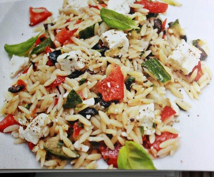 Rezept Risoni-Salat mit Feta und Oliven von Kris Tina - Rezept der Kategorie Hauptgerichte mit Gemüse