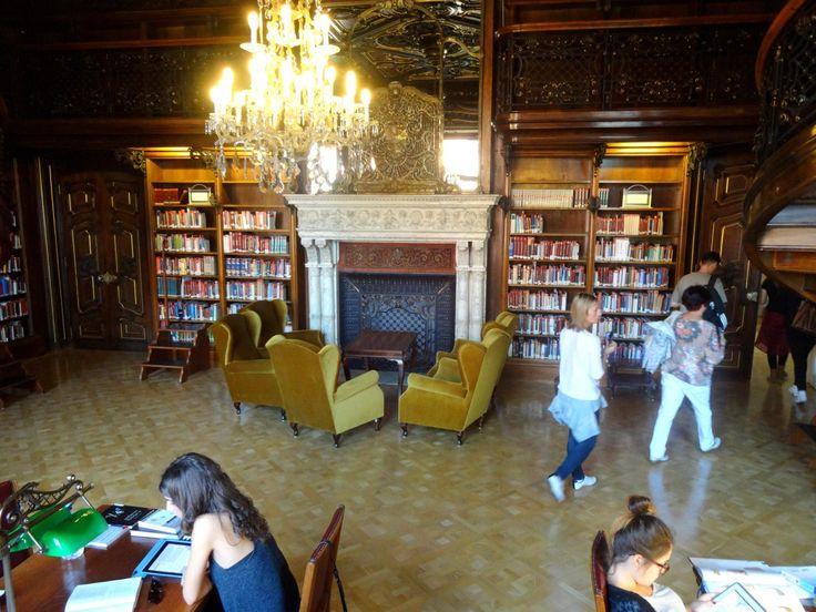 "smoking-room, ""Metropolitan Ervin Szabó Library"" in Budapest, Hungary (former Wenckheim-palace)"