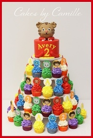 daniel tiger birthday cake - Google Search