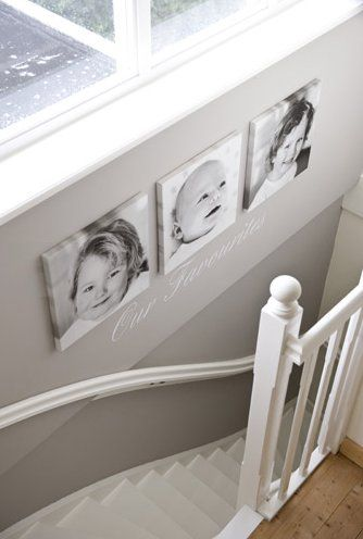 the boo and the boy: Different ways to display family photos