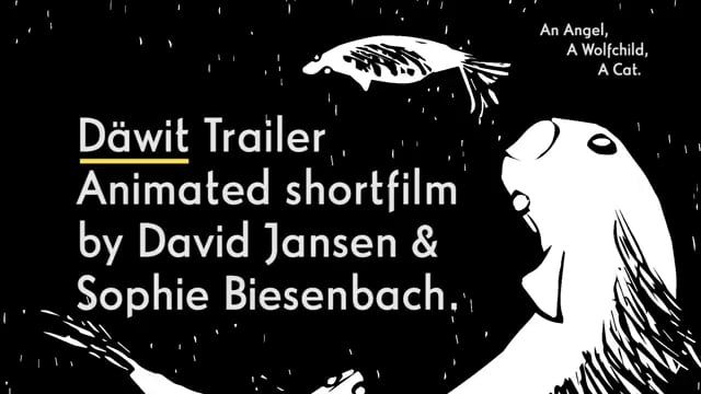 """DÄWIT (DAEWIT) Animated Short Film 15min  A wood cut animation movie about a wolf child, an angel and a cat.  Director: David Jansen Producer: Fabian Driehorst Animation: David Jansen & Sophie Biesenbach Sound Designer: Marcus Zilz Production Company: Fabian&Fred (Duessedorf/Hamburg) Funding: Film- & Medienstiftung NRW  The animated short film """"Däwit"""" by David Jansen and Sophie Biesenbach was produced by Fabian Driehorst of Fabian&Fred and will have it's world premiere at the 65th Berlin…"""