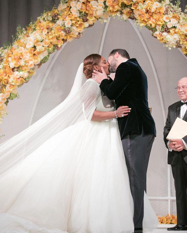 Serena Williams and Alexis Ohanian share photos from lavish wedding