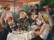 Le Déjeuner des Canotiers (1881) Auguste Renoir.