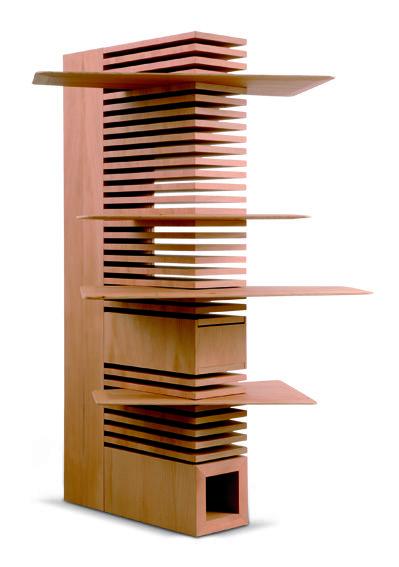 """Designer: IVONNE STHANDIER<br /> Nome dell'opera: CANTILEVER<br /> Libreria indipendente, struttura in multistratti di pioppo e colonna portante a sezione quadra in massello di cedro – ripiani tamburati – impiallacciato in cedro del libano – verniciatura trasparente ad acqua."""" /></a></div> <figcaption class='gallery-caption'>Designer: IVONNE STHANDIER<br /> Nome dell'opera: CANTILEVER<br /> Libreria indipendente, struttura in multistratti di pioppo e colonna portante a sezione quadra in ..."""