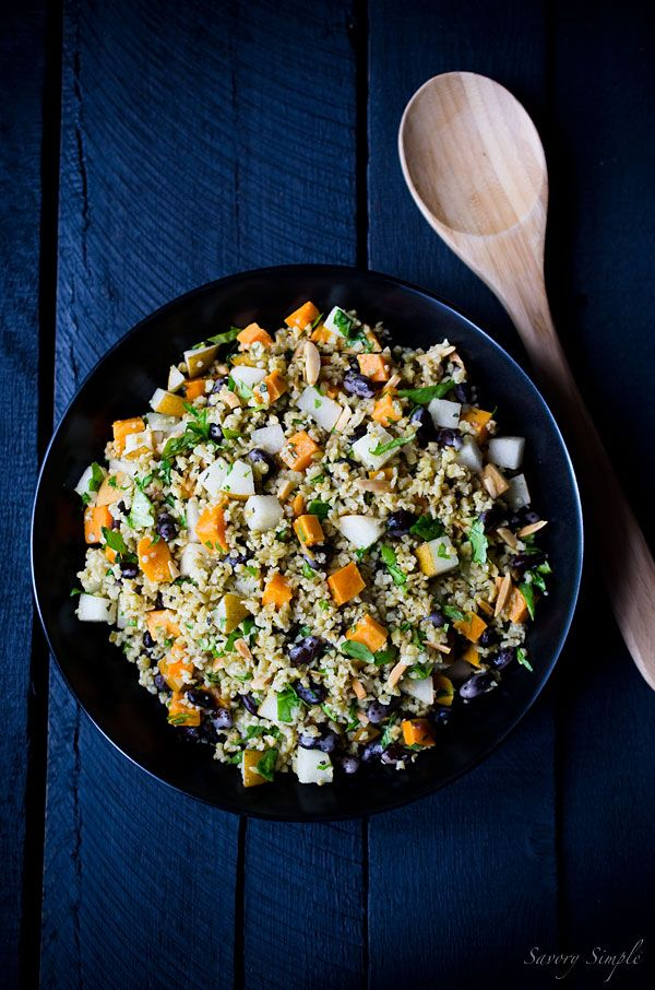 This Freekeh Salad with Sweet Potatoes and Pears is a healthy, seasonal side dish or lunch!