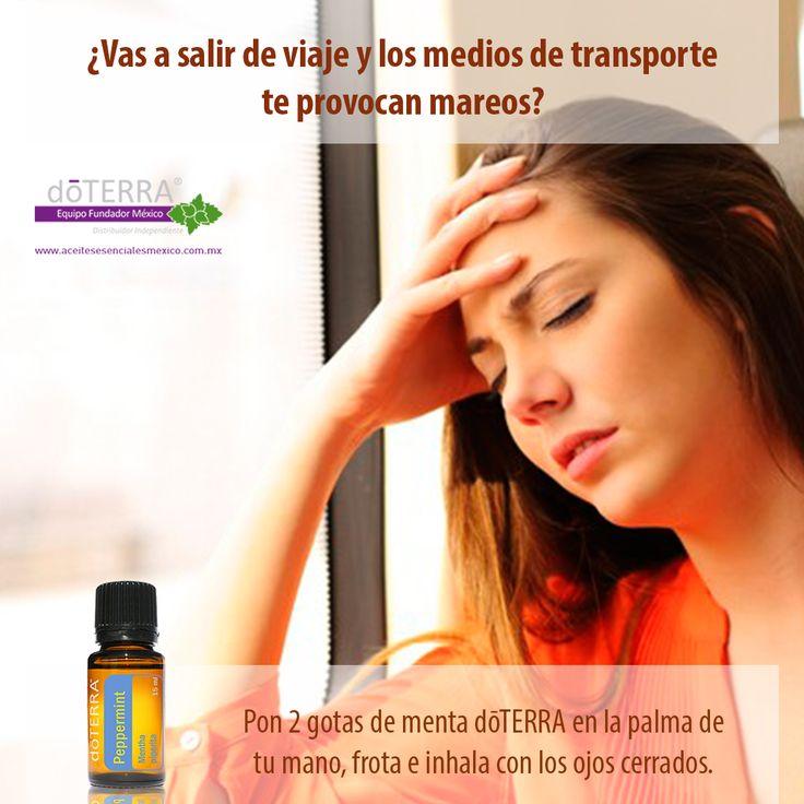 Evita mareos en los viajes con aceite esencial de Menta http://www.mydoterra.com/grantshort/#/essentialOils101