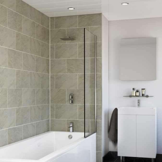 Proplas Tile Grey Marble Matt Upvc Tile Effect Panels 4 Pack Bathroom Wall Cladding Bathroom Cladding Pvc Wall Panels