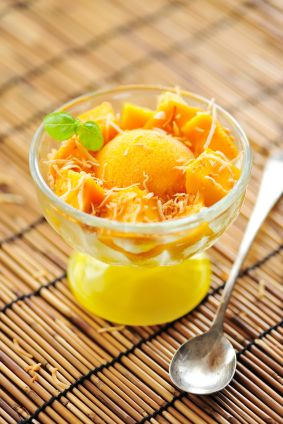Vegan Apricot Wheatgrass Sorbet - need to try this!