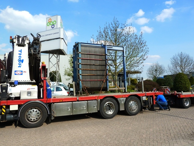 Alfa Laval M30 heat exchanger ready for transport to our customer. This plate heat exchanger is totaly serviced by us.