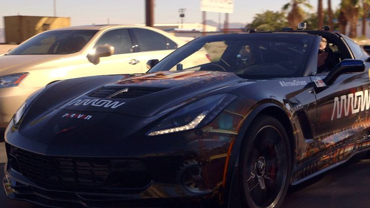 The semi-autonomous Corvette has been modified to enable Sam Schmidt to drive on public roads.