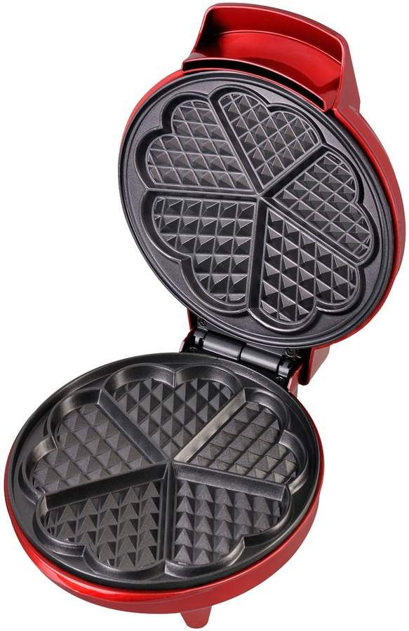 A heart shaped waffle maker for Valentine's Day! Love it!         Affiliate.