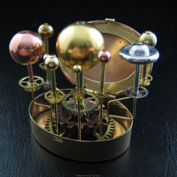 Orrery Steampunk Art Sculpture Globe Sphere Planets Watch