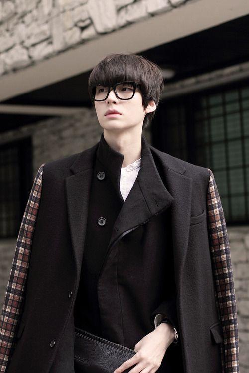 Coat + glasses   ahn jae hyun