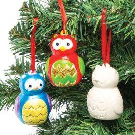 Owl Ceramic Decorations