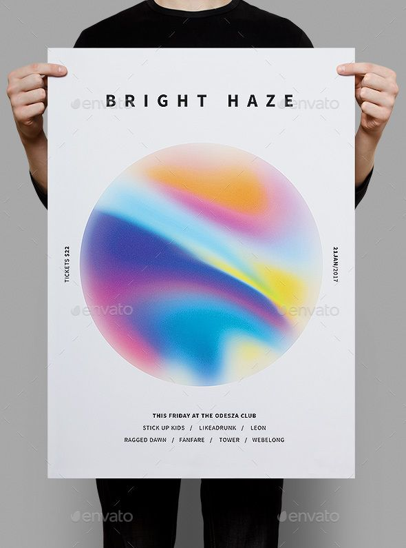 Bright Haze Poster & #Flyer - Clubs & Parties Events Download here: https://graphicriver.net/item/bright-haze-poster-flyer/19688571?ref=alena994