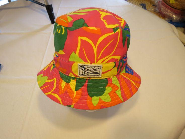 Polo Ralph Lauren bucket hat cap 71059473002 RARE print reversible S/M NEW Mens  #PoloRalphLauren #hat