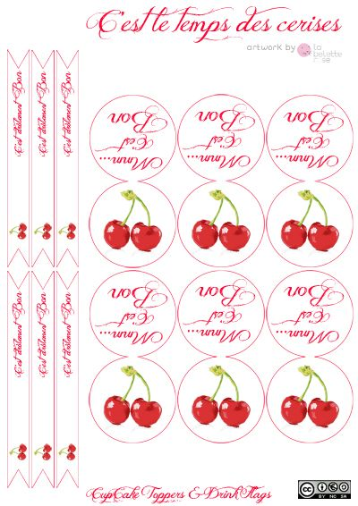 Cupcake Toppers & straw flags to download