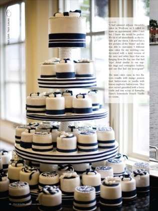 Top cake for bride & groom, cupcakes for everyone else!