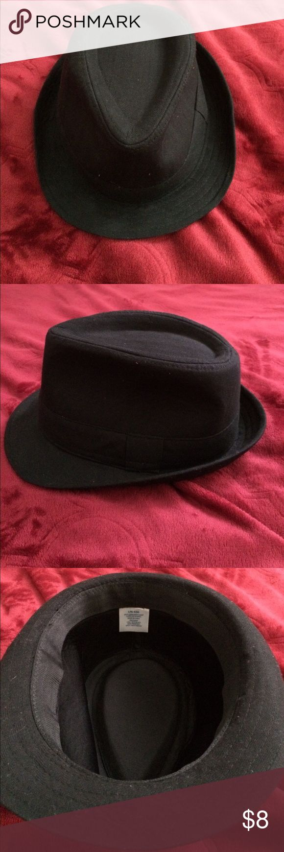Fedora For Men Black fedora - size L. Boyfriend wore it once for winter formal and didn't really like it. Price is firm. No trades. Accessories Hats
