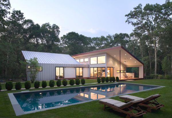 Even modern pool areas take advantage of the surrounding vegetation