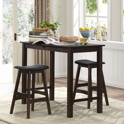 Red Barrel Studio® Claycomb 3 Piece Counter Height Pub Table Set