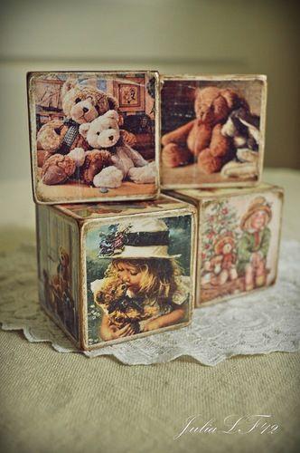 Винтажные кубики - Ярмарка Мастеров - ручная работа, handmade