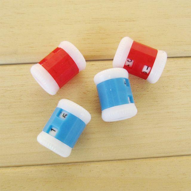 Alta Calidad Conveniente Plástico Crochet Row Contador Redonda Stitch Tally Knitter Aguja 1 Unids Envío Libre