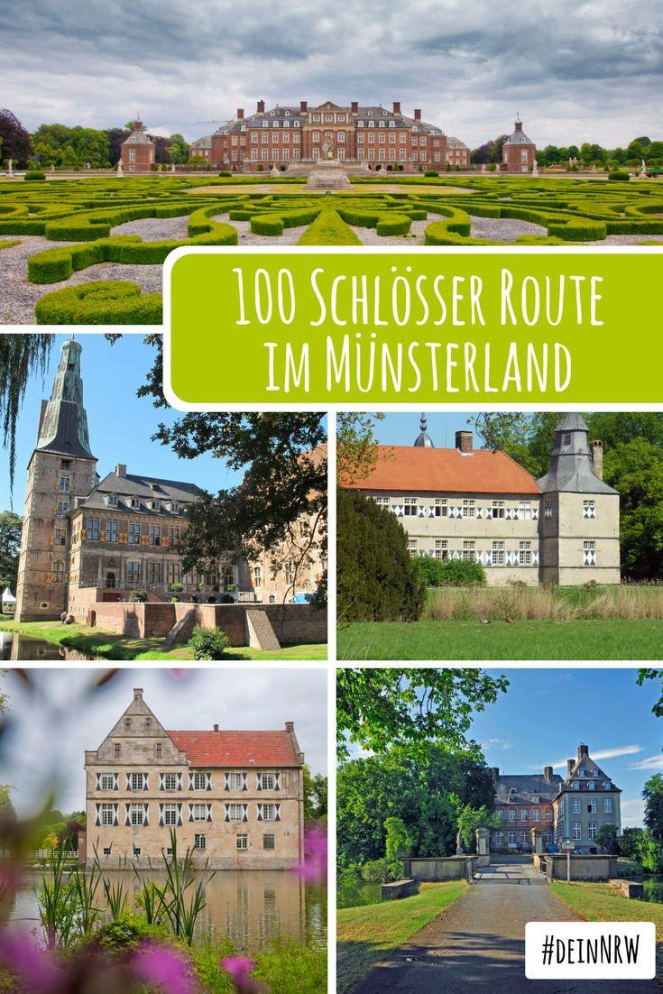 Mit dem Fahrrad romantische Schlösser und herrschaftliche Burgen im Münsterland entdecken - das kannst Du auf der rund 1.000 Kilometer langen 100 Schlösser Route. #deinnrw ©️ Oliver Franke, Tourismus NRW; Münsterland e.V: