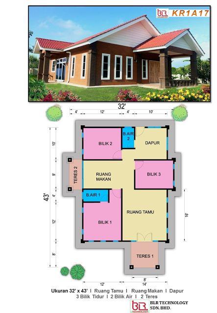 Pelan Banglo Tulip 3 Bilik 2 Air Rumah Ibs Pinterest House Plans Tulips And Dream