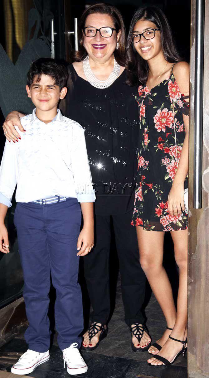 Kiaan Raj Kapoor and Samaira Kapoor at Babita's birthday ...