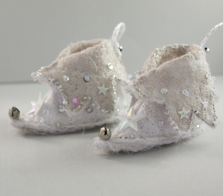 fairy shoes Elf Boot Christmas Ornament Snow White Ice Star Fairy christmas tree  holiday decor