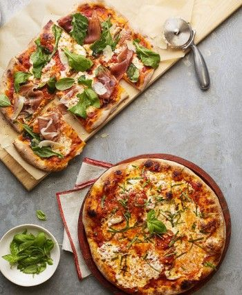 EASY-PEASY HAND-TOSSED PIZZA: Craving an authentic chewy, puffy-edged pizzeria crust at home? Fresh or frozen dough gets you there for about half the cost of a restaurant pizza – and a large baking tray is the only equipment needed