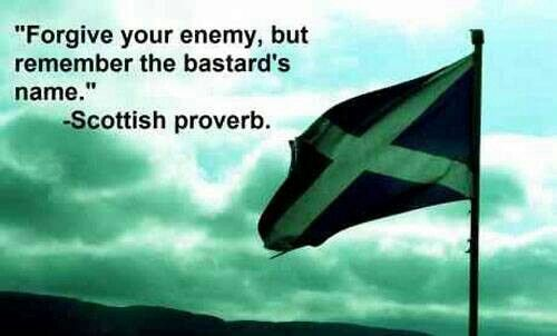 Scottish--Says it all! I kind of want this on a plaque.