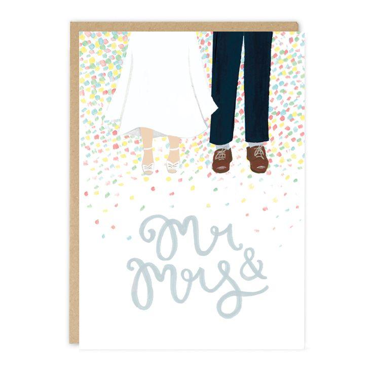 HAPPY FEET Wedding Card by Jade Fisher #Shiro #Echo #Digital #Favini