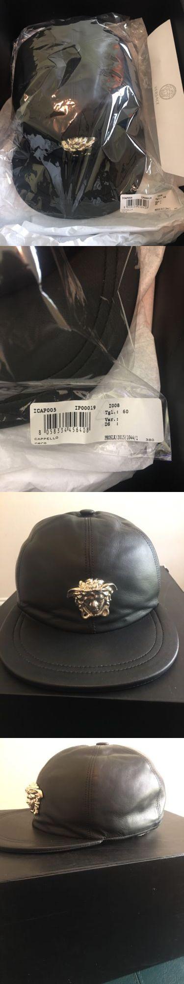 Hats 163543: Versace Medusa Cappello Leather Baseball Cap Sz. 60Cm Icap005ip00019 -> BUY IT NOW ONLY: $350 on eBay!