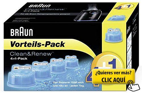 Braun Clean & Renew 4+1 - Kit de limpieza... #maquina #afeitar