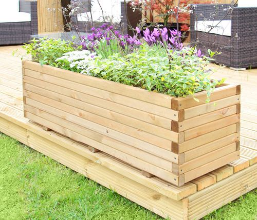 Details About Raised Trough Wooden Garden Planter Pine