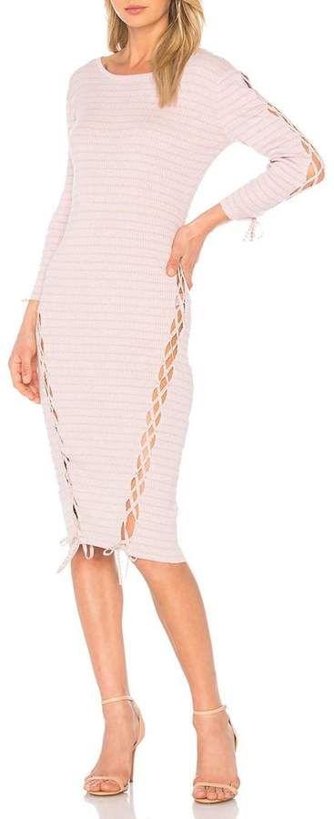 Tabula Rasa Askia Stripe Dress Lilac