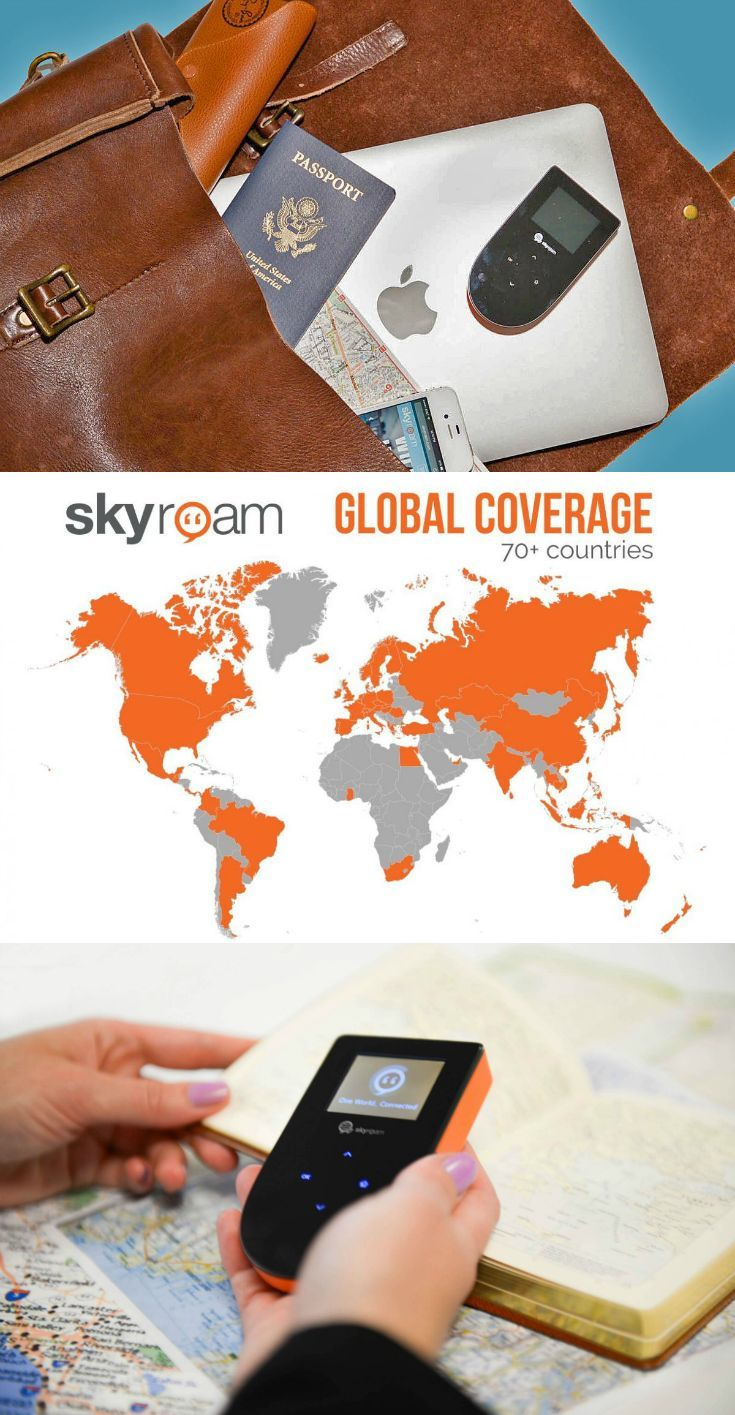 Find wifi whereever: The Skyroam mobile internet hotspot gives unlimited internet data access on up to 5 devices at a time. Perfect for saving money on your cell phone bill when you travel abroad.