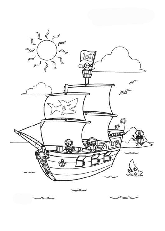 ausmalbilder für kinder piratenschiff 5  piraten schiff